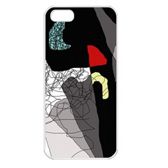 Decorative abstraction Apple iPhone 5 Seamless Case (White)