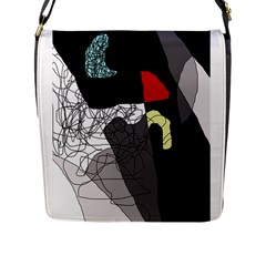 Decorative abstraction Flap Messenger Bag (L)