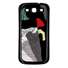 Decorative abstraction Samsung Galaxy S3 Back Case (Black)