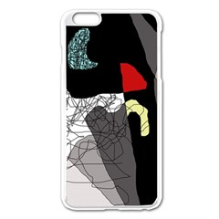 Decorative abstraction Apple iPhone 6 Plus/6S Plus Enamel White Case