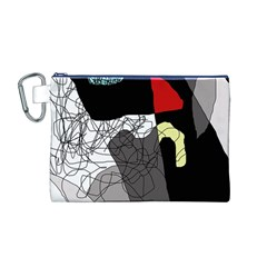 Decorative abstraction Canvas Cosmetic Bag (M)