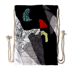 Decorative abstraction Drawstring Bag (Large)
