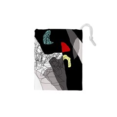 Decorative abstraction Drawstring Pouches (XS)