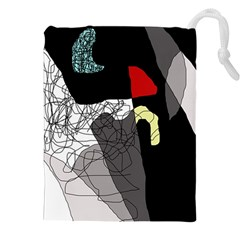 Decorative abstraction Drawstring Pouches (XXL)