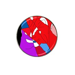 Colorful abstraction Hat Clip Ball Marker (4 pack)