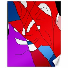 Colorful abstraction Canvas 11  x 14