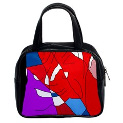 Colorful abstraction Classic Handbags (2 Sides)