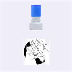 Colorful abstraction Rubber Round Stamps (Small)
