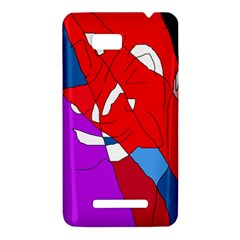 Colorful abstraction HTC One SU T528W Hardshell Case