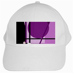 Purple geometrical abstraction White Cap