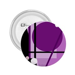 Purple geometrical abstraction 2.25  Buttons