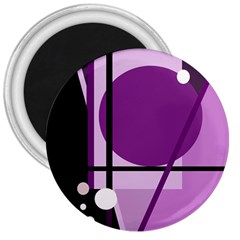 Purple geometrical abstraction 3  Magnets