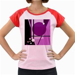 Purple geometrical abstraction Women s Cap Sleeve T-Shirt