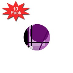 Purple geometrical abstraction 1  Mini Buttons (10 pack)