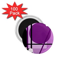 Purple geometrical abstraction 1.75  Magnets (100 pack)
