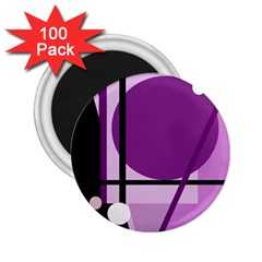 Purple geometrical abstraction 2.25  Magnets (100 pack)