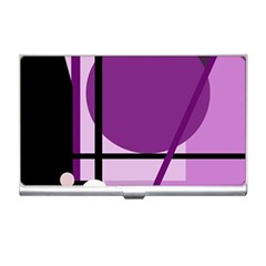 Purple geometrical abstraction Business Card Holders