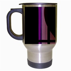 Purple geometrical abstraction Travel Mug (Silver Gray)