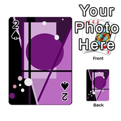 Purple geometrical abstraction Playing Cards 54 Designs