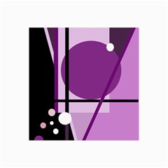 Purple geometrical abstraction Collage Prints