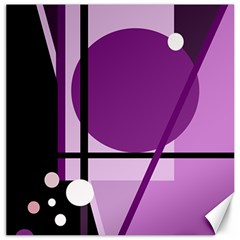 Purple geometrical abstraction Canvas 16  x 16