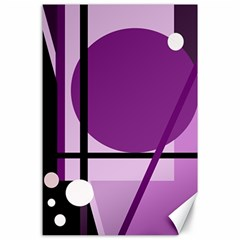 Purple geometrical abstraction Canvas 24  x 36