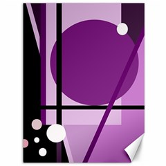 Purple geometrical abstraction Canvas 36  x 48