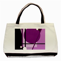 Purple geometrical abstraction Basic Tote Bag (Two Sides)