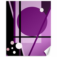 Purple geometrical abstraction Canvas 11  x 14