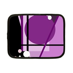 Purple geometrical abstraction Netbook Case (Small)
