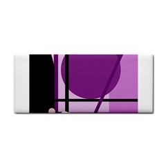 Purple geometrical abstraction Hand Towel