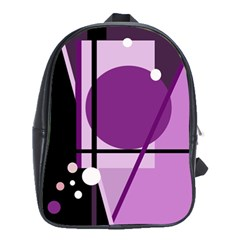 Purple geometrical abstraction School Bags(Large)