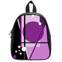 Purple geometrical abstraction School Bags (Small)