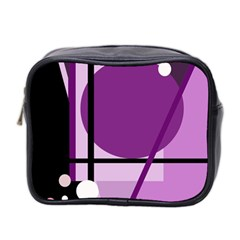 Purple geometrical abstraction Mini Toiletries Bag 2-Side
