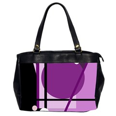 Purple geometrical abstraction Office Handbags (2 Sides)