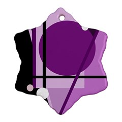 Purple geometrical abstraction Ornament (Snowflake)