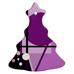 Purple Geometrical Abstraction Ornament (christmas Tree)