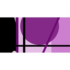 Purple geometrical abstraction YOU ARE INVITED 3D Greeting Card (8x4)