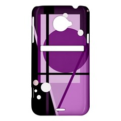 Purple geometrical abstraction HTC Evo 4G LTE Hardshell Case