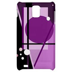 Purple geometrical abstraction Samsung Infuse 4G Hardshell Case