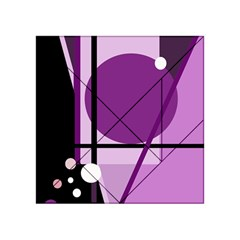 Purple geometrical abstraction Acrylic Tangram Puzzle (4  x 4 )