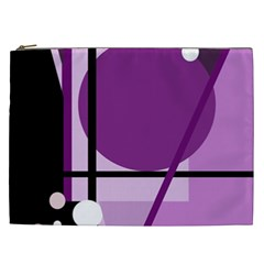 Purple geometrical abstraction Cosmetic Bag (XXL)