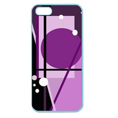 Purple geometrical abstraction Apple Seamless iPhone 5 Case (Color)