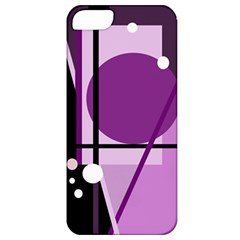 Purple geometrical abstraction Apple iPhone 5 Classic Hardshell Case