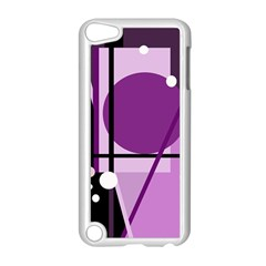 Purple geometrical abstraction Apple iPod Touch 5 Case (White)