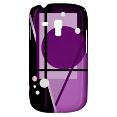 Purple geometrical abstraction Samsung Galaxy S3 MINI I8190 Hardshell Case