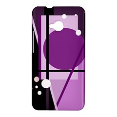 Purple geometrical abstraction HTC One M7 Hardshell Case