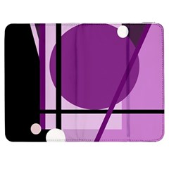 Purple geometrical abstraction Samsung Galaxy Tab 7  P1000 Flip Case