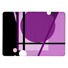 Purple geometrical abstraction Samsung Galaxy Tab 10.1  P7500 Flip Case