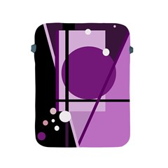 Purple geometrical abstraction Apple iPad 2/3/4 Protective Soft Cases